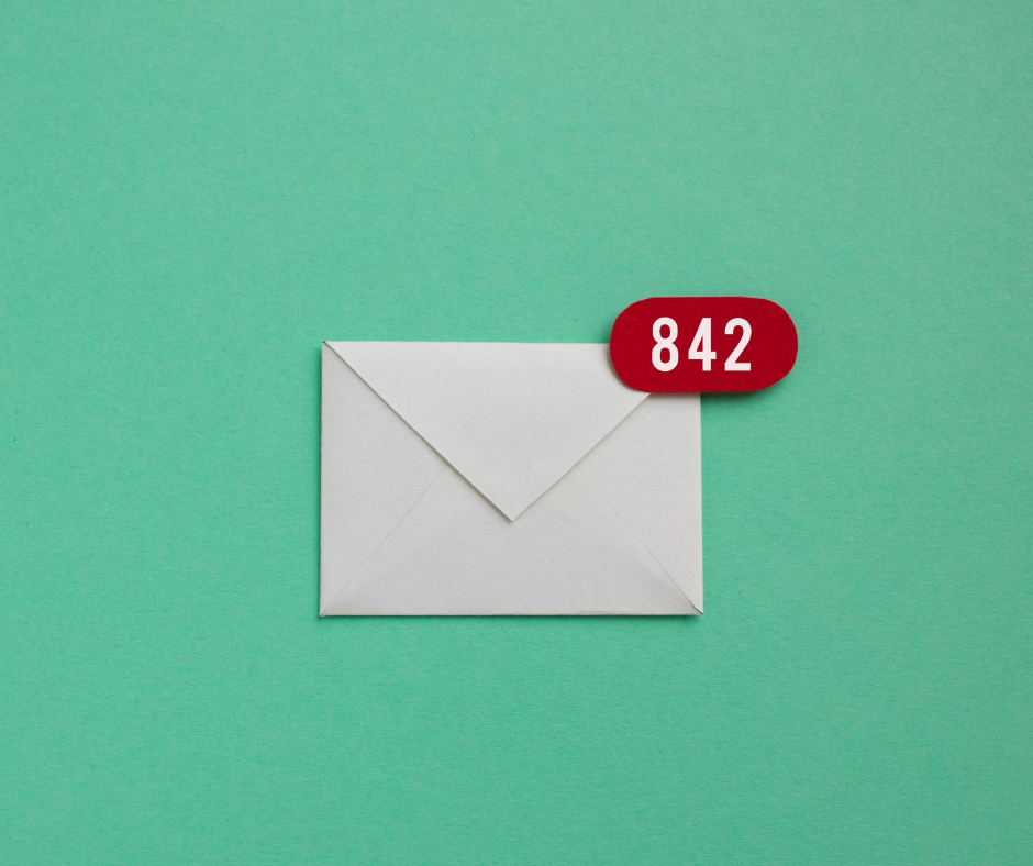 envelope with unread emails